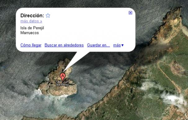 Google Maps considera el Islote de Perejil como territorio marroquí