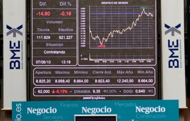 La Bolsa española intensifica la corrección y el Ibex pierde los 9.500 puntos