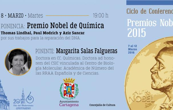 El Ciclo de Conferencias de los Nobel presenta este martes en Cartagena su segunda ponencia con Margarita Salas