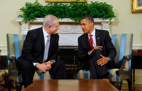 Obama y Netanyahu se comprometen a colaborar para iniciar negociaciones directas