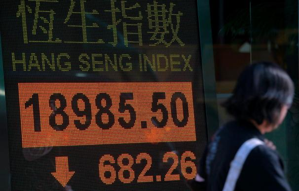 El índice Hang Seng pierde el 0,01 por ciento y queda en 21.091,17 puntos