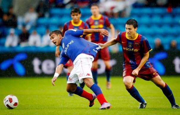2-4. El Barça muestra su nueva hornada de valores en el primer amistoso de la temporada
