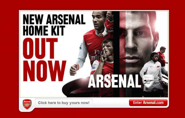Cesc, portada de la web del Arsenal
