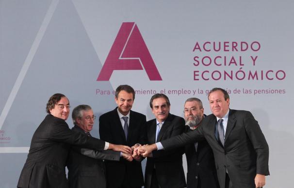Méndez, Toxo y Rosell intentarán reconducir el pacto para evitar un decreto