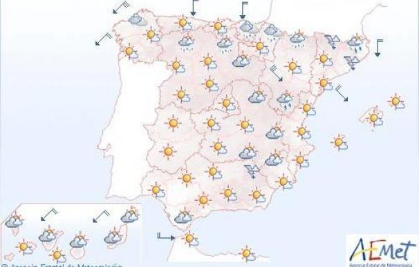 Temperaturas altas en Canarias y buena parte de la Península