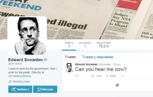 La cuenta de Edward Snowden en Twitter