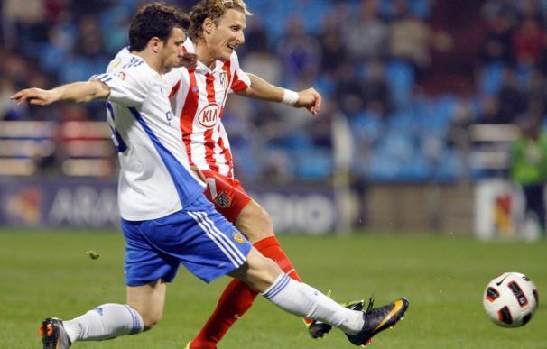 Forlán se entrenó en el gimnasio y aún es duda para el duelo del Atlético ante el Sevilla