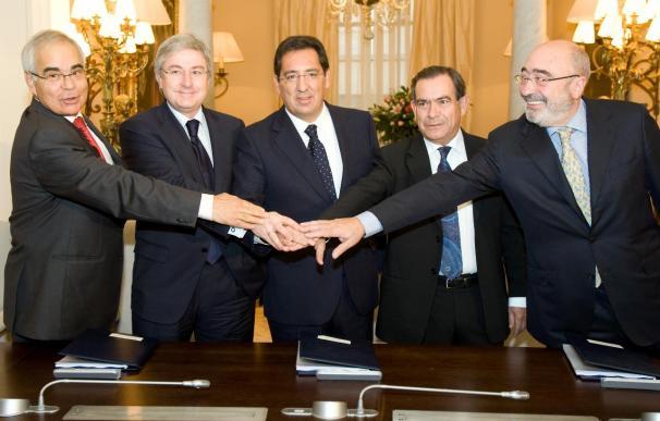 Los presidentes de Banca Cívica firman un protocolo de integración