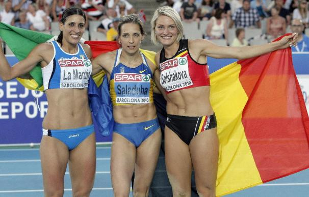 Saladuha sucede a Lebedeva como campeona de triple