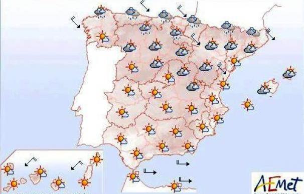 Predominio de cielos poco nubosos en casi toda España