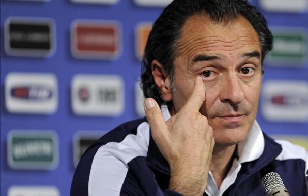 """Prandelli dice que España """"es una referencia"""" pero Italia ha """"crecido"""""""