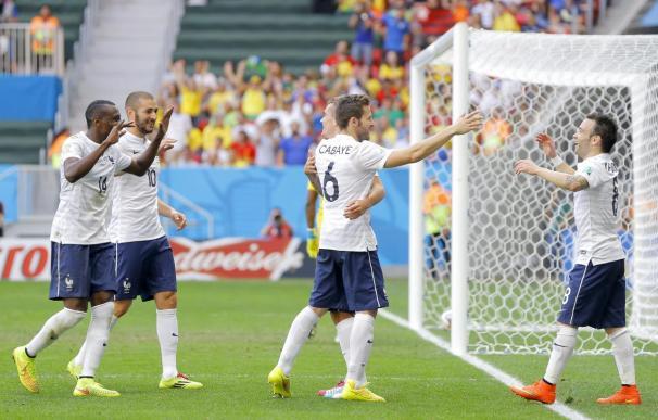 2-0. Francia sufre con Nigeria y el muro de Enyeama pero avanza a los cuartos