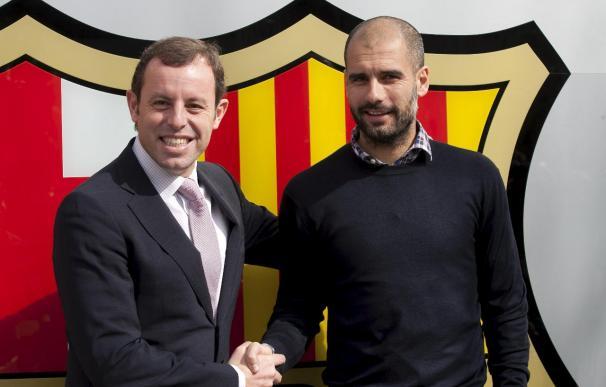Guardiola firma el contrato de renovación con el Barcelona hasta 2012