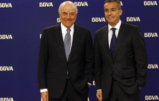 Francisco González y Ángel Cano, presidente y consejero delegado de BBVA