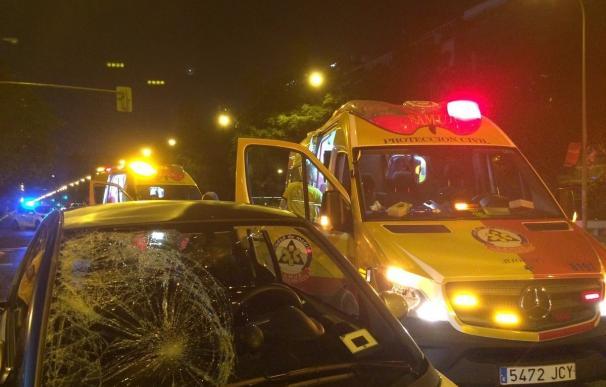 AMP-Sucesos- Herida grave una chica de 29 años al ser atropellada por un turismo en un paso de peatones de la Castellana