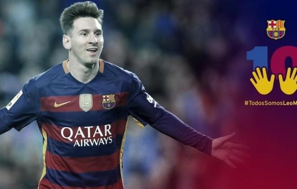 Técnicos de Hacienda piden al Barça que retire la campaña de apoyo a Messi tras su condena por fraude