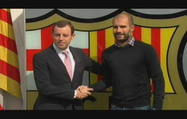 Guardiola firma su renovación hasta junio de 2012