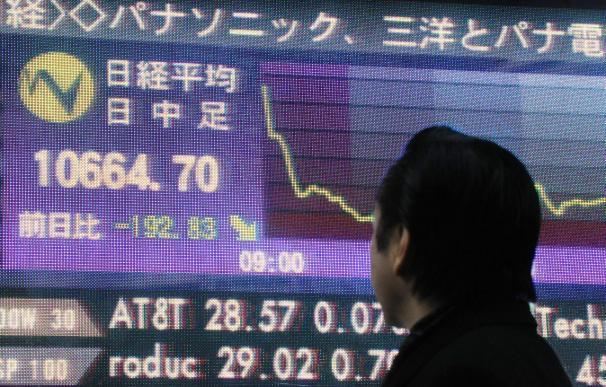 El Nikkei sube 74,05 puntos, el 0,70 por ciento, hasta 10.526,76 puntos