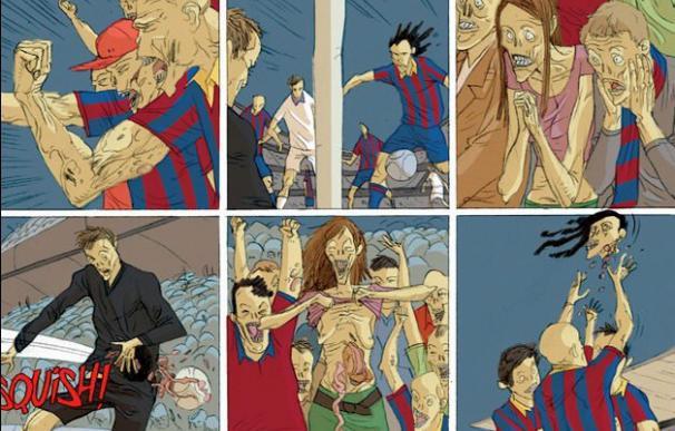 """Los zombis revientan el clásico Barça-Madrid en el cómic """"Al tercer día"""""""