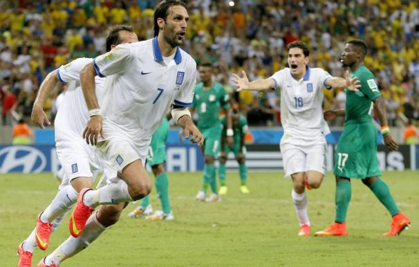 2-1. Grecia se encuentra con una clasificación que tenía en la mano Costa de Marfil