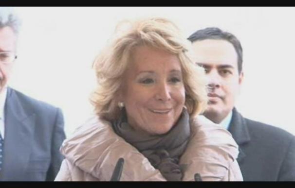 Esperanza Aguirre ingresa en el Clínico para ser operada