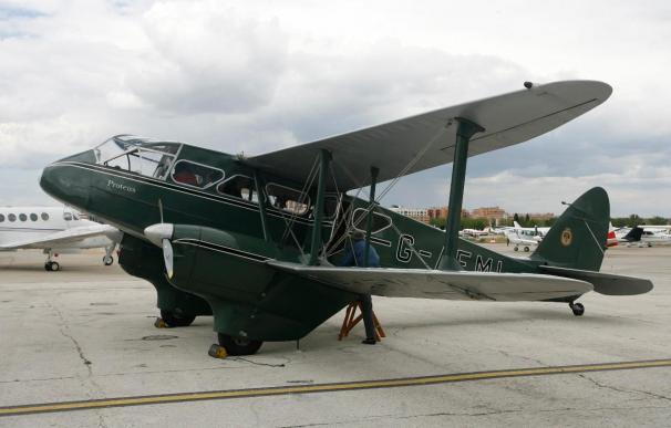 El avión Dragón Rapide de Aga Khan volará en Madrid pintado de Iberia