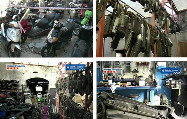 Desmantelado un taller que reparaba motos a mitad de precio con piezas robadas