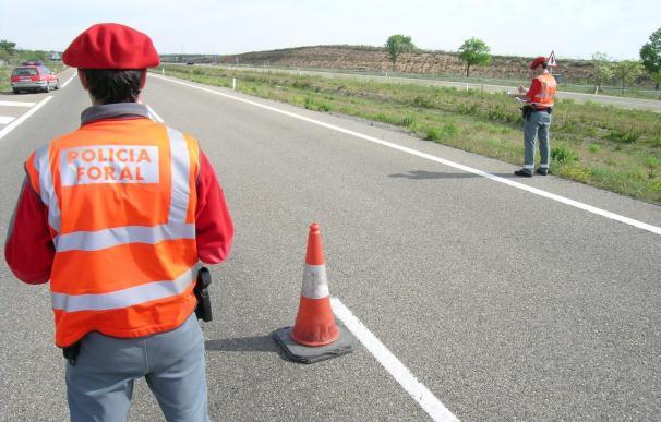 Un dispositivo de 166 agentes de la Policía Foral participan en la primera operación salida de tráfico de este verano