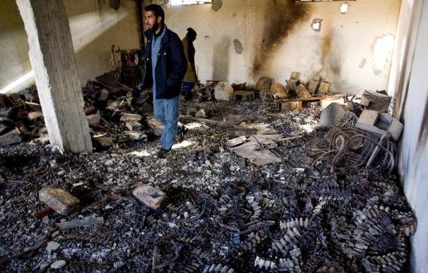 Dos helicópteros de las fuerzas de Gadafi derribados cerca de Misrata