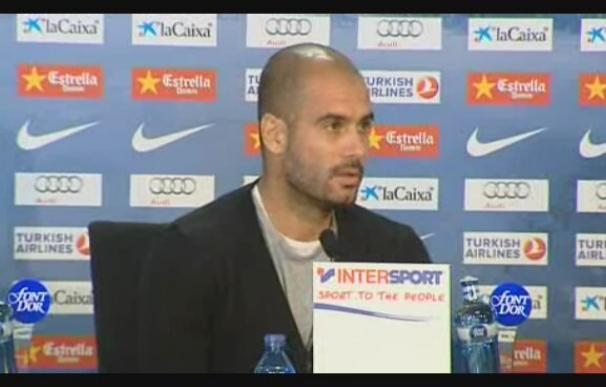 """Josep Guardiola insite en que Villa """"entrena y compite"""" para que su equipo gane"""