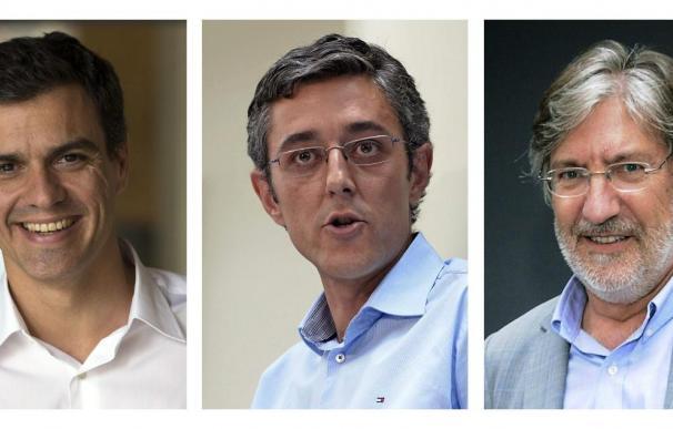 Sánchez, Madina y Pérez Tapias, candidatos con el aval del 38,7 por ciento de la militancia