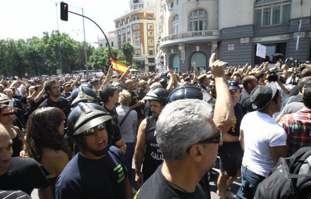 Concluyen sin incidentes las protestas de los funcionarios contra los recortes del Gobierno