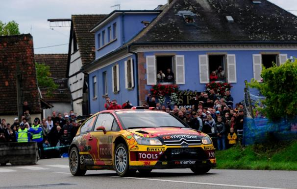 Solberg, el más rápido en el primer tramo de tierra del Rally de Cataluña