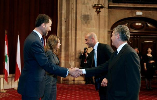 """Reina dice que se siente """"privilegiado"""", """"afortunado"""" y """"muy orgulloso"""" de recibir el Príncipe de Asturias"""