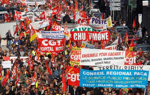 El Gobierno francés considera que las protestas tienen hoy menos asistentes