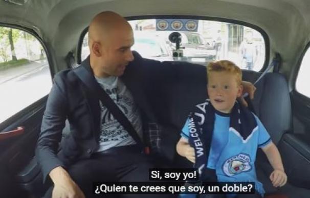 La sorpresa más divertida de Guardiola a un niño fan del Manchester City