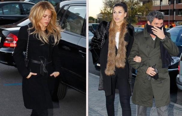 Alejandro Sanz y Shakira, muy conmocionados en el último adiós a Irene Vázquez, mujer de Michavila