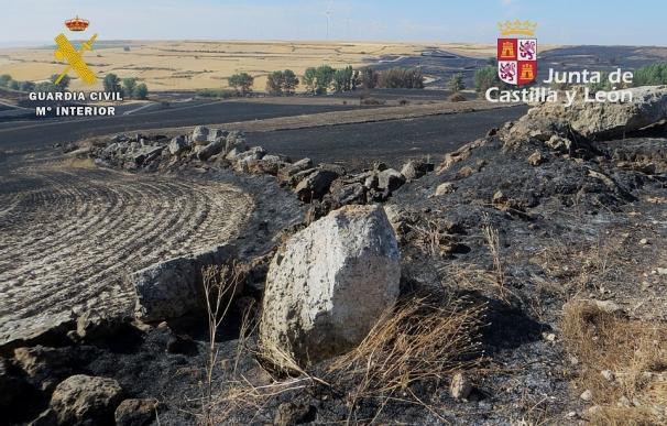 Investigado en Burgos un hombre de 76 años por provocar con su imprudencia un incendio que calcinó 62 hectáreas