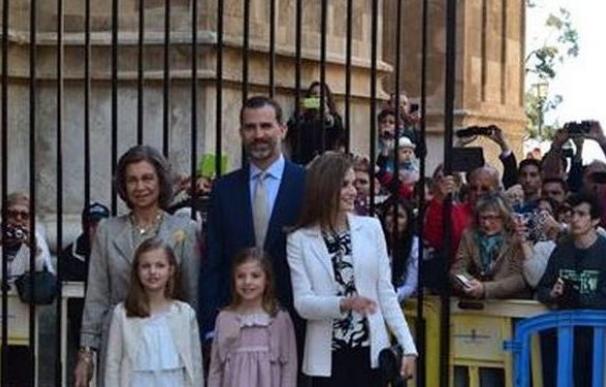 Sólo faltó Letizia en el cumpleaños de Doña Pilar de Borbón en Mallorca