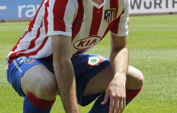 El jugador del Atlético Godín estará tres semanas de baja por un esguince de rodilla