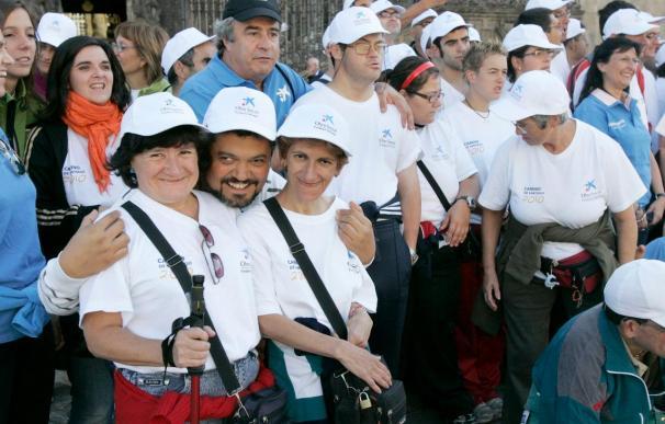 Más de 70 discapacitados culminan con ilusión su peregrinación a Compostela