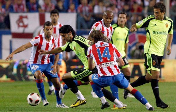 1-0. El Atlético aprovecha la debilidad del Zaragoza