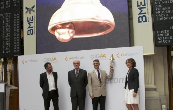 (Ampl.) VozTelecom cierra su primer día en el MAB con una subida del 10,34%