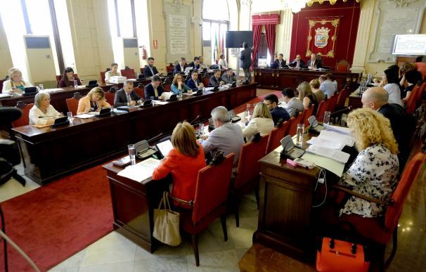 Polémica del parque canino sobre una fosa, metro y ayudas a comedores escolares, a debate en el pleno de Málaga