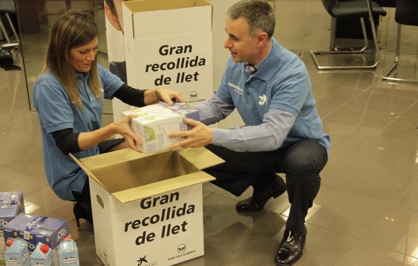 La Obra Social La Caixa y el Banc dels Aliments recogen 550.000 litros de leche