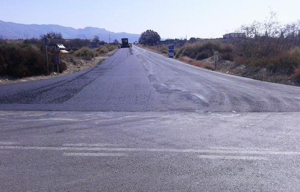 Terminadas las obras de mejora de la carretera provincial AL-3100 entre Pechina y Sierra Alhamilla