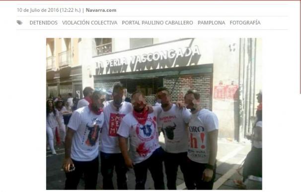 La foto de los cinco encarcelados por la violación en Sanfermines