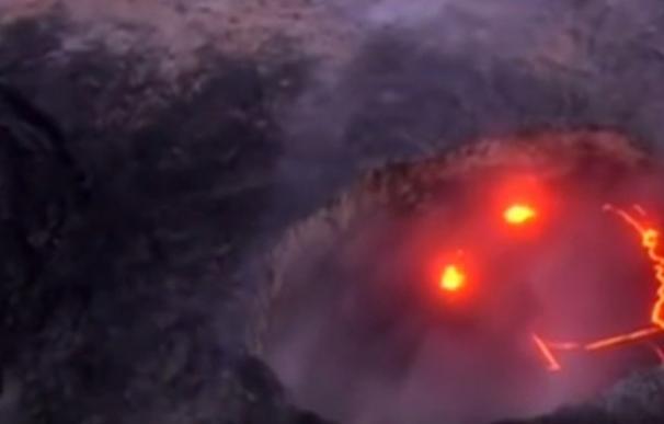 La 'sonrisa' de un volcán en Hawai