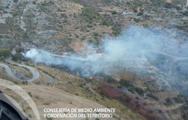 Controlado el incendio forestal en el paraje Sierra de Lújar