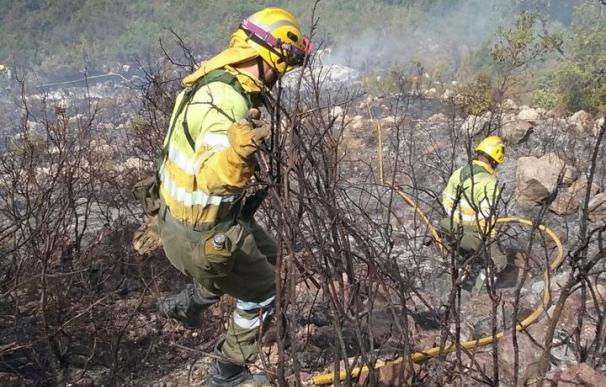 Extinguidos los incendios en Bocairent (Valencia) y Ondara (Alicante)